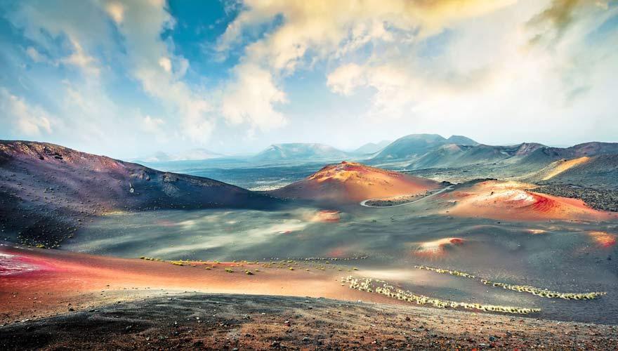 Vulkanlandschaft des Timanfaya auf Lanzarote