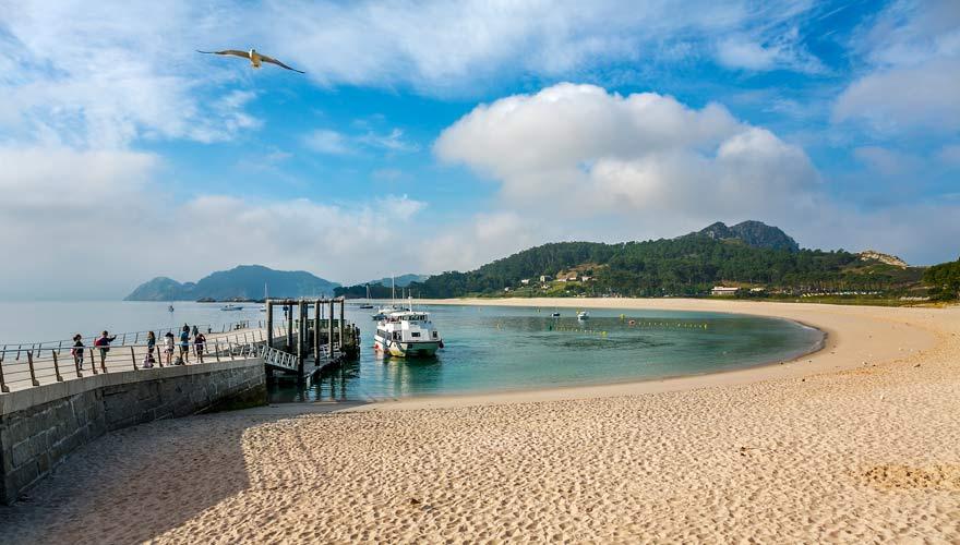 Strand auf Cies Island in Rías Baixas