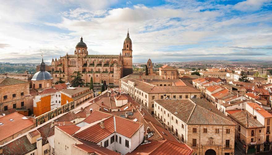 Panorama über Salamanca in Spanien