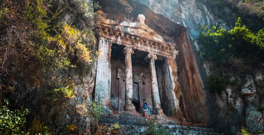 Lykisches Felsengrab, Fethiye, Türkei