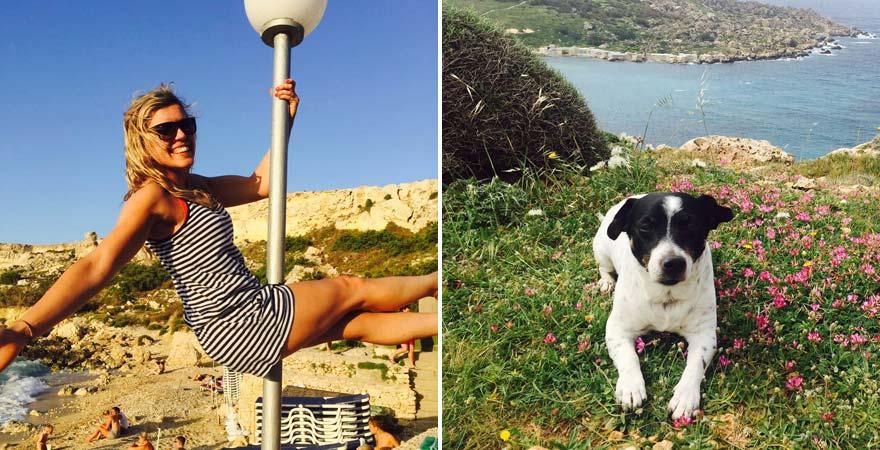 Urlaubs-Checkerin Antonija und Hund Jack