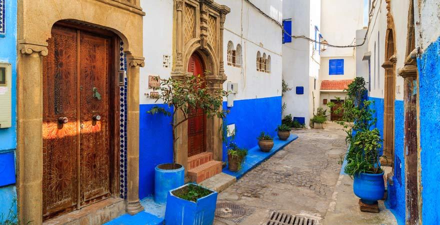 Häuser in der Kasbah von Rabat