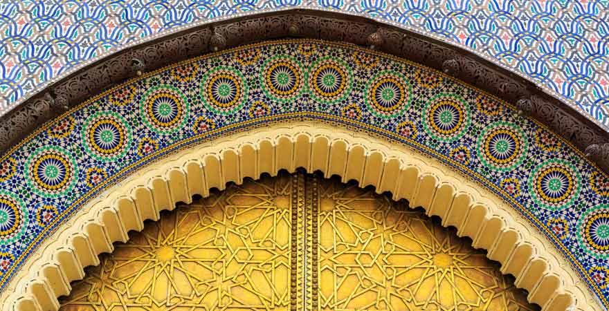 Fassade Königspalast in Fès