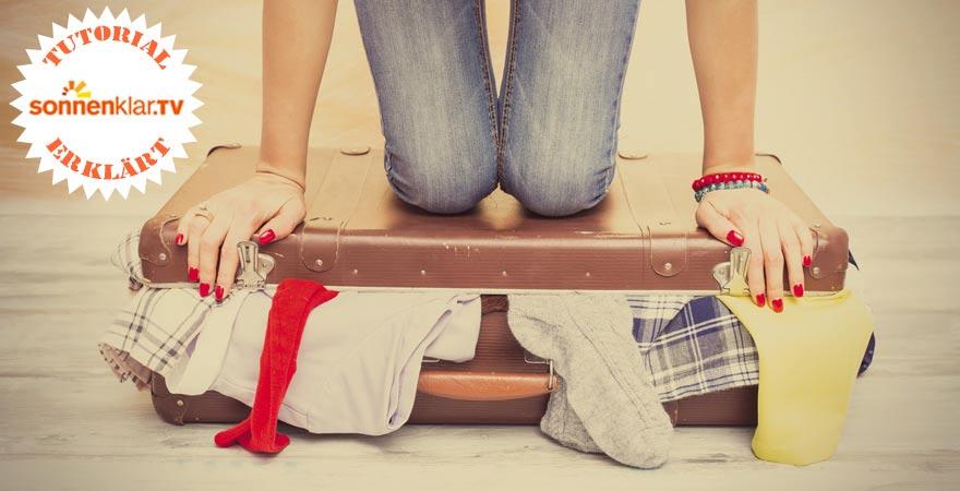 Koffer platzsparend packen - ein Tutorial