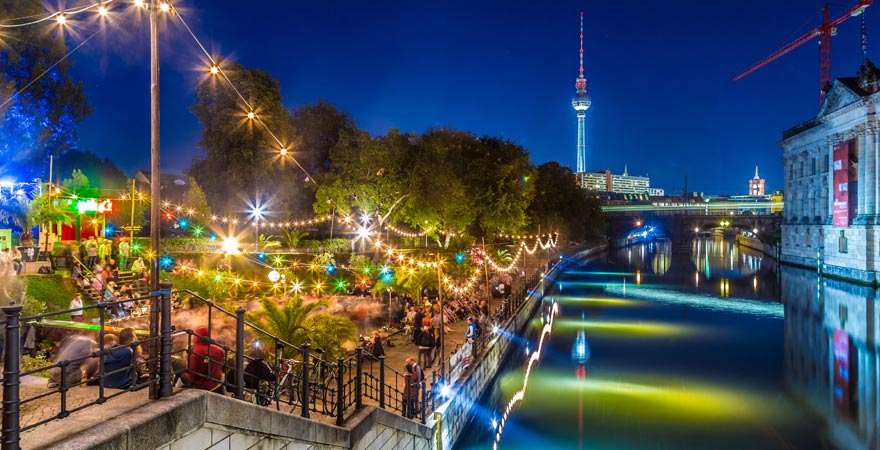 Hippe Party-Stadt Berlin