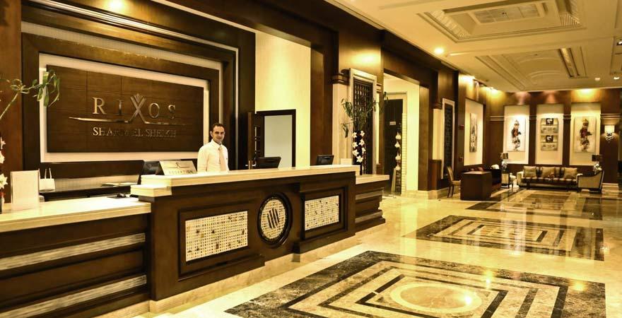 Die Rezeption im Rixos Sharm el Sheikh Hotel
