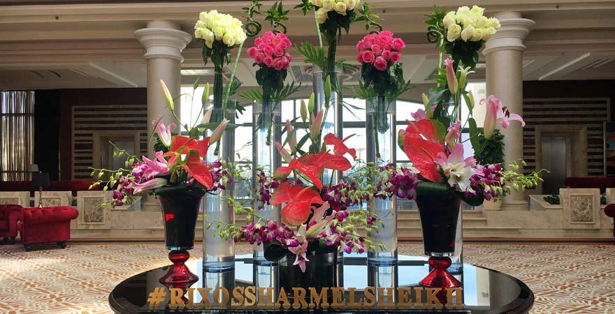 Blumen in der Lobby vom Rixos Sharm el Sheikh