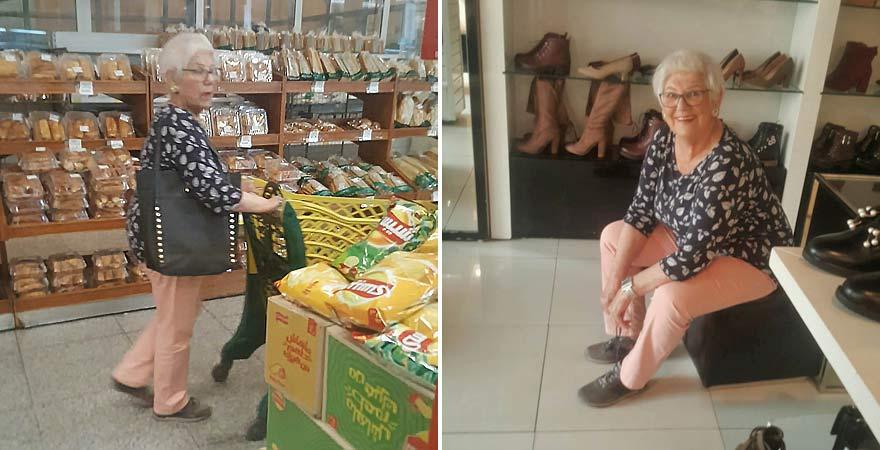 Senioren beim Einkaufen in Ägypten