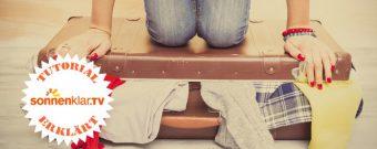 Tutorial Koffer platzsparend packen