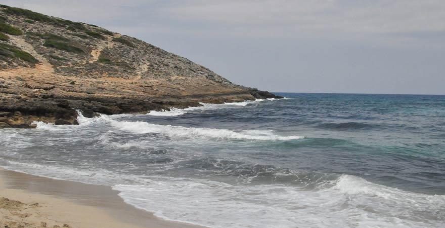 Der Strand von Cala Torta ist komplett naturbelassen