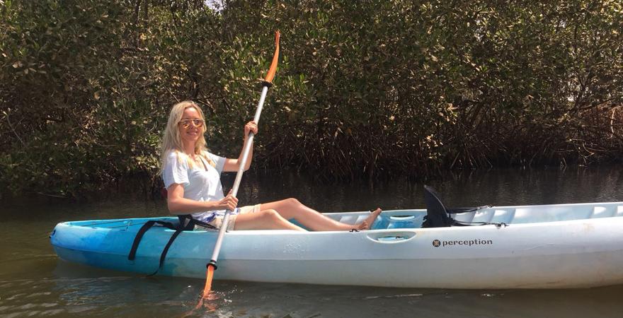 Unser Urlaubstipp ist eine Kajak-Tour auf dem Gambia-River