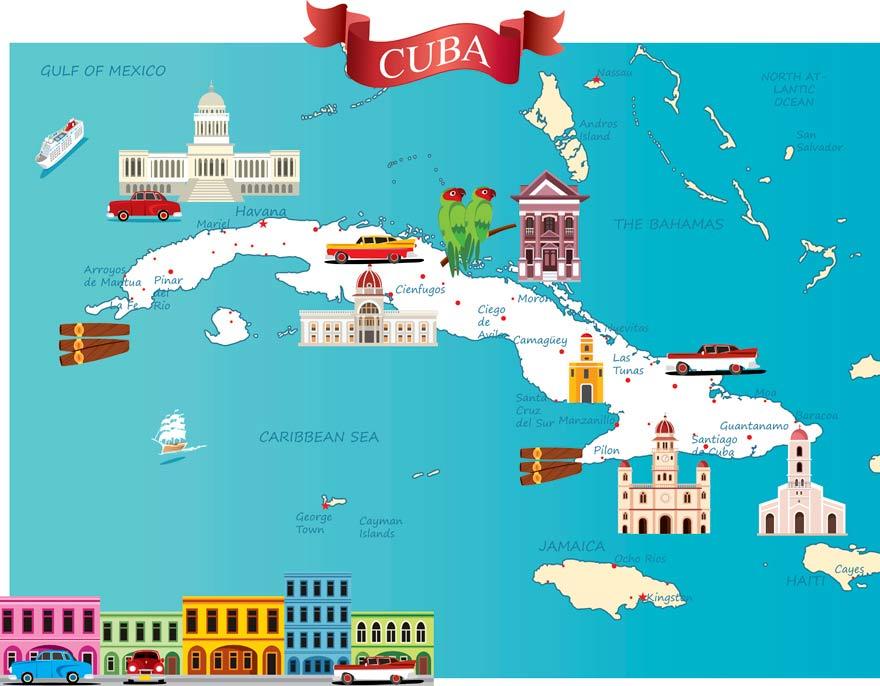 Kuba-Karte