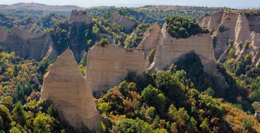 Die Pyramiden von Melnik sind ein echtes Naturspektakel in Bulgarien