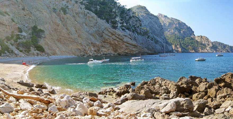Platja des Coll Baix ist ein berühmter Strand auf Mallorca