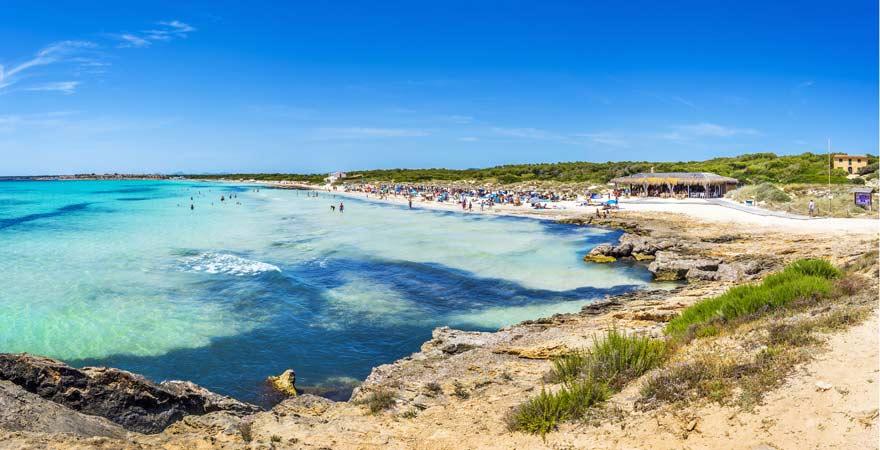 Ein Teil des Traumstrandes auf Mallorca, Es Trenc, ist die Playa de Ses Covetes