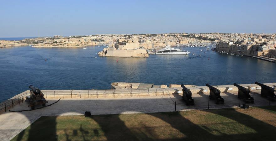 Aussicht von Upper Barrakka Gardens in Valletta