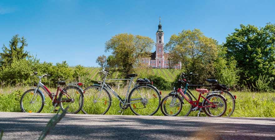 Fahrradtour im Familienurlaub am Bodensee