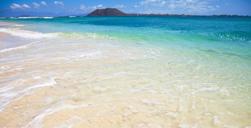 Flag Beach von Corralejo ist einer der schönsten spanischen Strände auf Fuerteventura