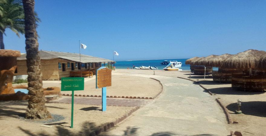 Ruhiger Strandabschnitt des Caribbean World Resort Soma Bay