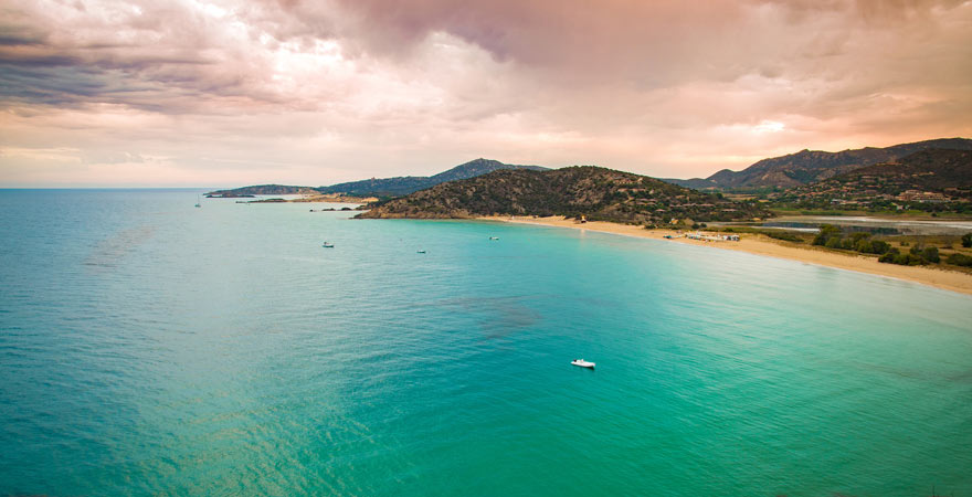 Küste von Chia auf Sardinien