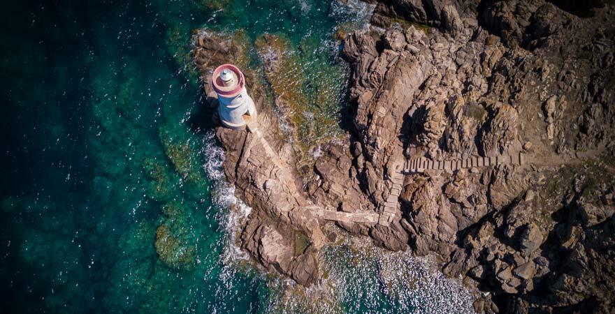 Leuchtturm von Porto Cervo auf Sardinien