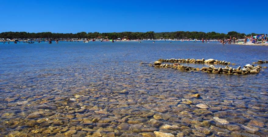 Der familienfreundliche Strand von Medulin