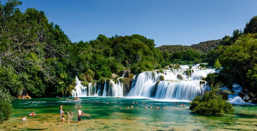 Wasserfall im Nationalpark Krka