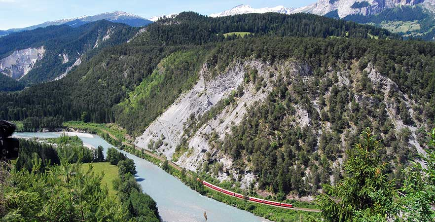Rheinschlucht in der Schweiz