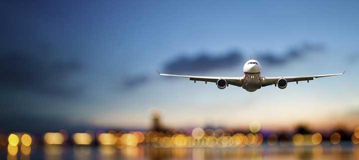 Flug in den Urlaub
