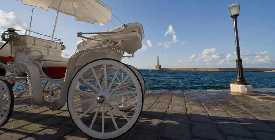 Kutsche in Chania auf Kreta