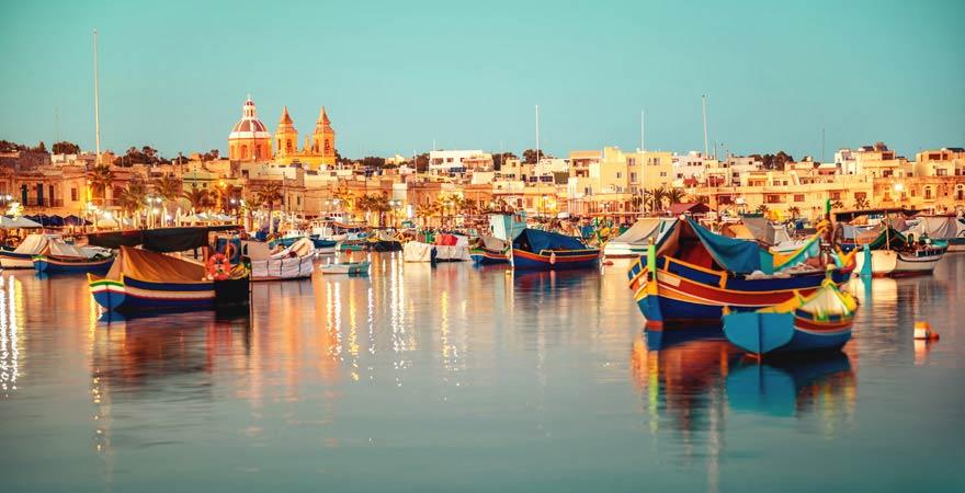 Das Fischerdorf Marsaxlokk auf Malta