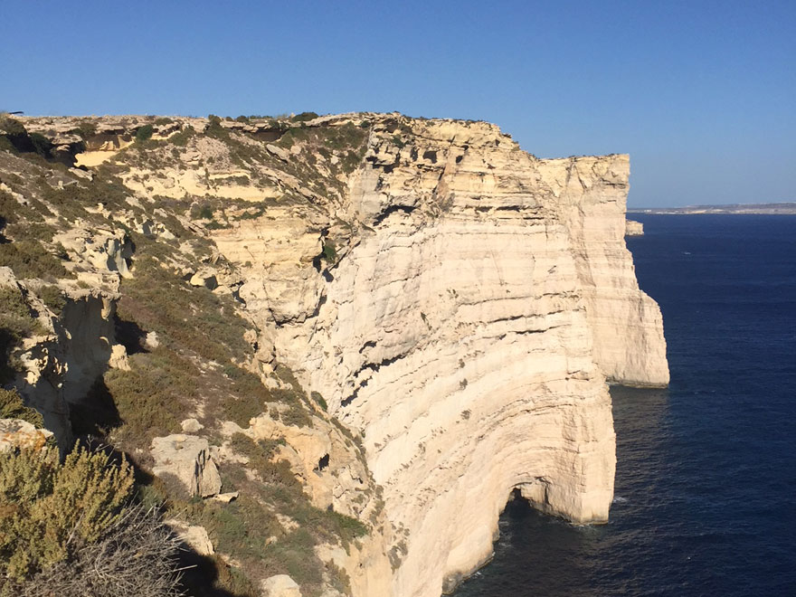Sannat Klippen auf Gozo