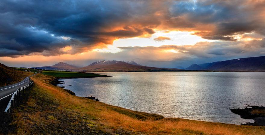 Eyjafjörður-Fjord in Island