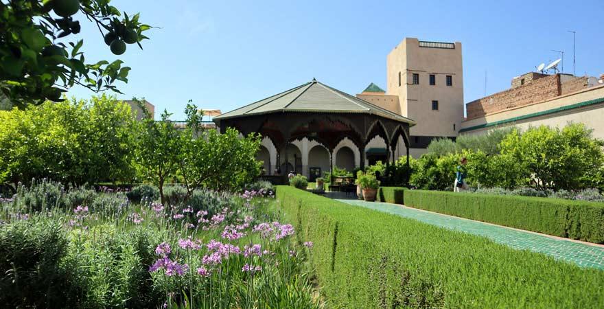 Islamischer Teil im Jardin Secret, Marrakesch