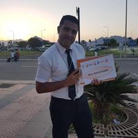 Fahrer Walid holt Astrid vom Flughafen Sharm el Sheikh ab