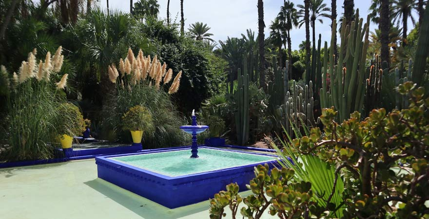 Brunnen im Jardin Majorelle, Marrakesch