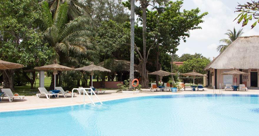 Pool vom Kairaba Beach Hotel, Gambia