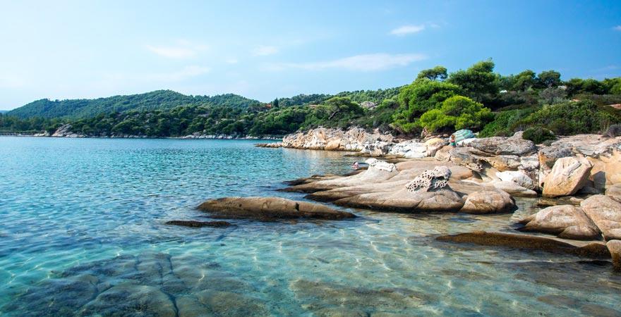 Strand auf Sithonia, Griechenland