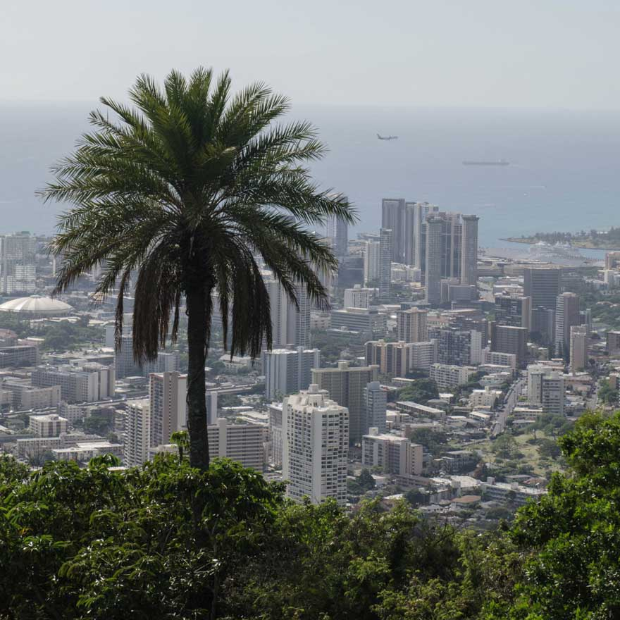 Panorama auf Oahu auf Honolulu, Hawaii