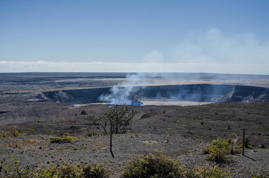 Vulkan im Nationalpark auf Big Island, Hawaii
