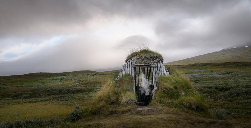 Sami-Hütte, Padjelanta Nationalpark, Schweden