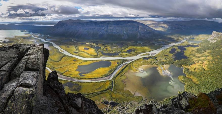 Wandern im Sarek Nationalpark in Schweden