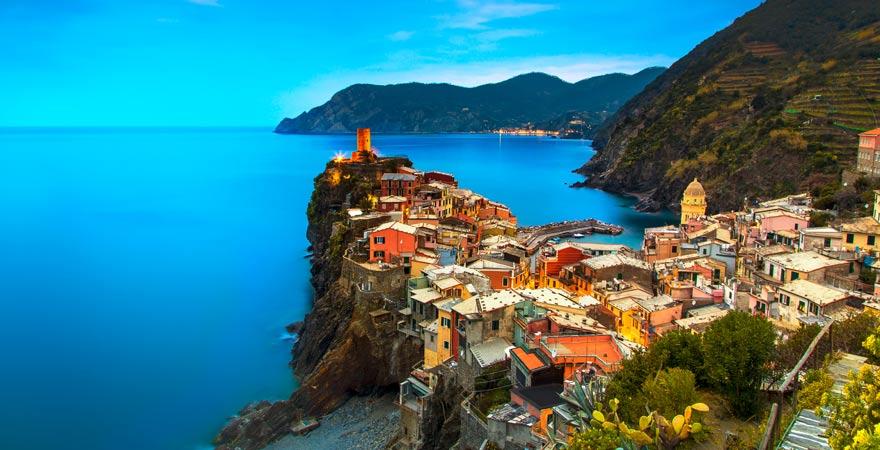 Blick auf Vernazza, Cinque Terre, Italien