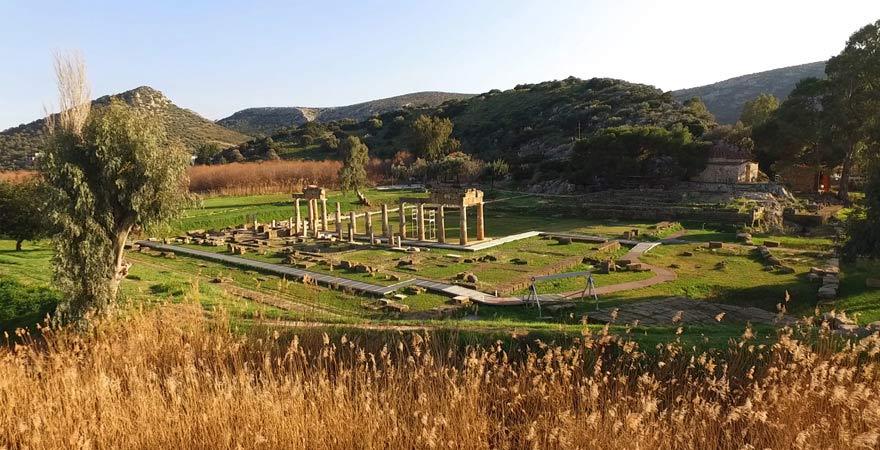 Ausgrabungsstätte von Vavrona, Griechenland