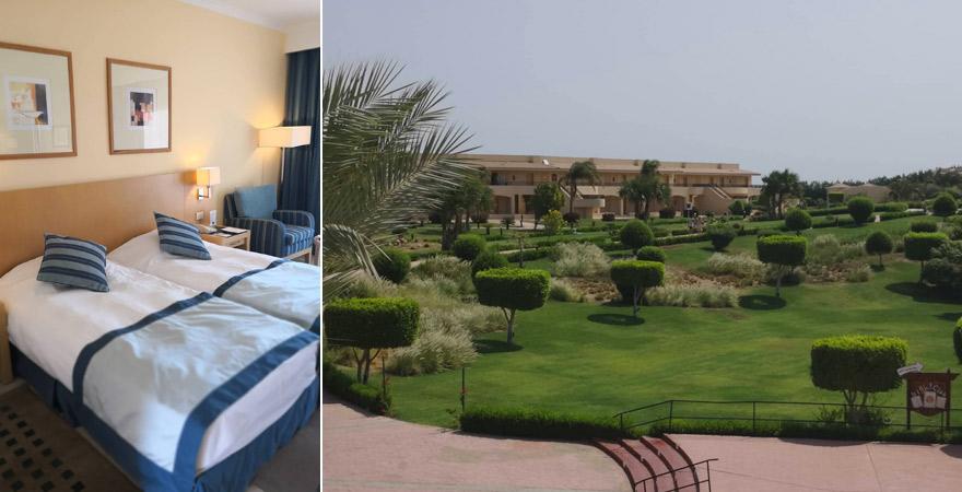 Wohnbeispiel mit Gartenblick im Cleopatra Luxury Resort Makadi Bay