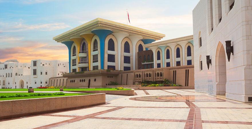 der Al-Alam-Palast in Maskat