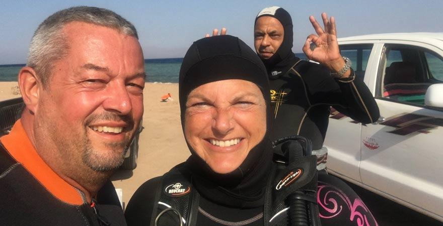 Astrid und Andreas beim Tauchurlaub in Dahab