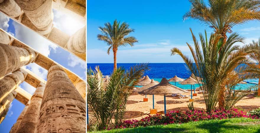 Kultur- und Strandurlaub in Ägypten