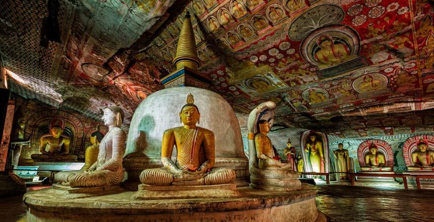 Höhlentempel in Dambulla auf Sri Lanka
