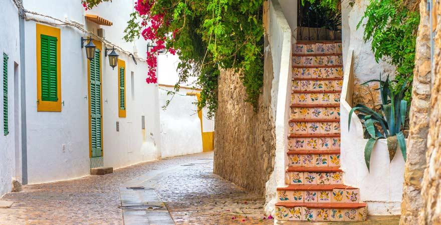 Die Altstadt in Ibiza Stadt